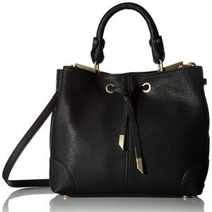 Foley + Corinna Black Crossbody Satchel Purse